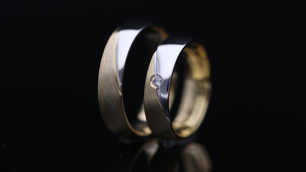 Svadobné obrúčky / Wedding rings R211 / VIDEO / Cena s DPH