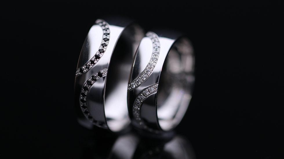 Svadobné obrúčky / Wedding rings A680 / VIDEO / Cena s DPH