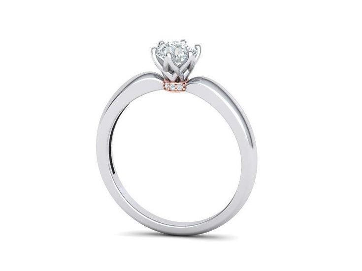 Zásnubný briliantový prsteň 0.50 ct / E / VVS2 / GIA