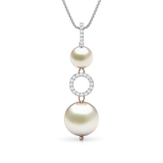 Briliantový prívesok s morskými perlami