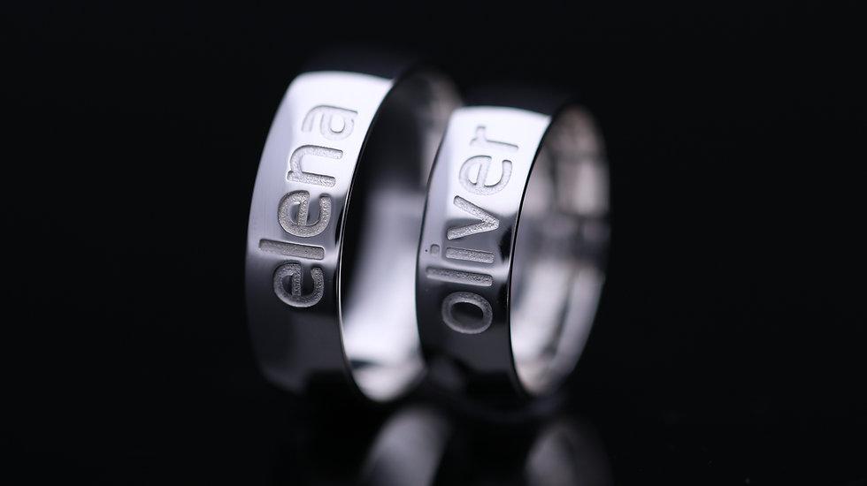 Svadobné obrúčky / Wedding rings R327 / VIDEO / Cena s DPH