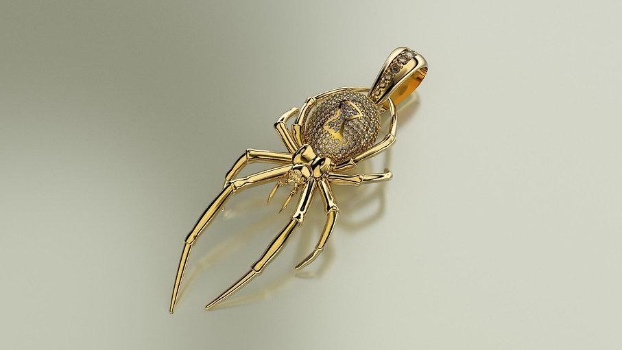 3d vizuál pavúka