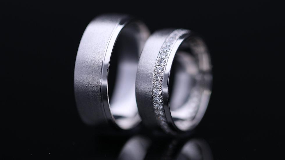 Svadobné obrúčky / Wedding rings R126 / VIDEO / Cena s DPH