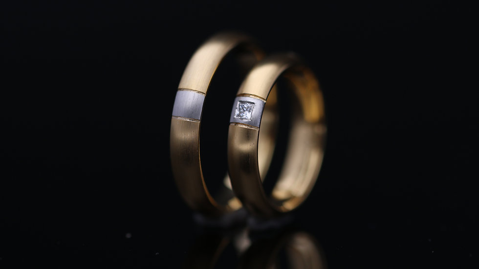 Svadobné obrúčky / Wedding rings R281 / VIDEO / Cena s DPH