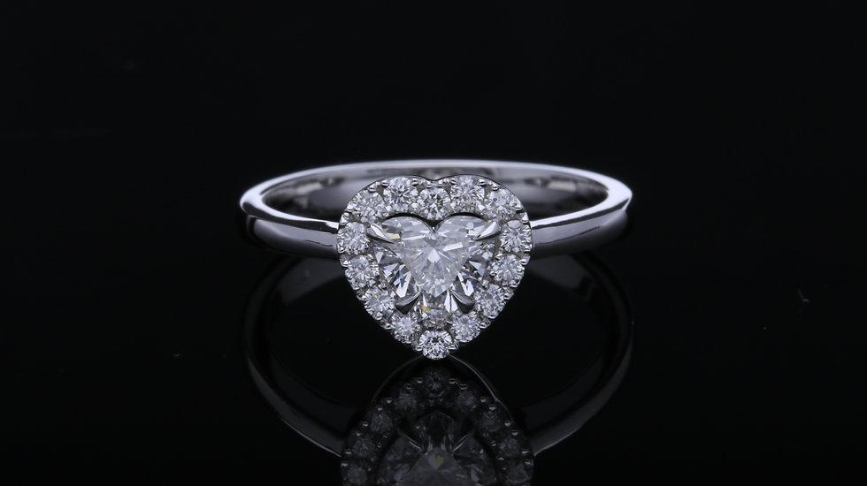 Zásnubný prsteň Briliantové srdce 0.45 ct