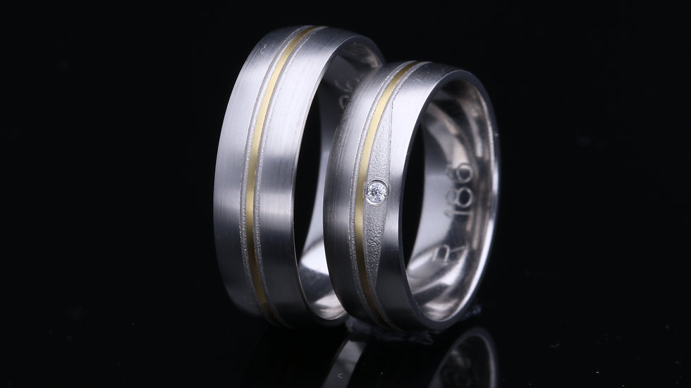 Svadobné obrúčky / Wedding rings R186 / VIDEO / Cena s DPH