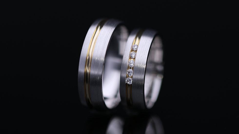 Svadobné obrúčky / Wedding rings P32 / VIDEO / Cena s DPH