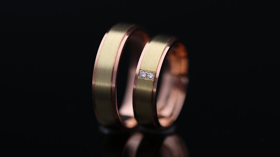 Svadobné obrúčky / Wedding rings R290 / VIDEO / Cena s DPH