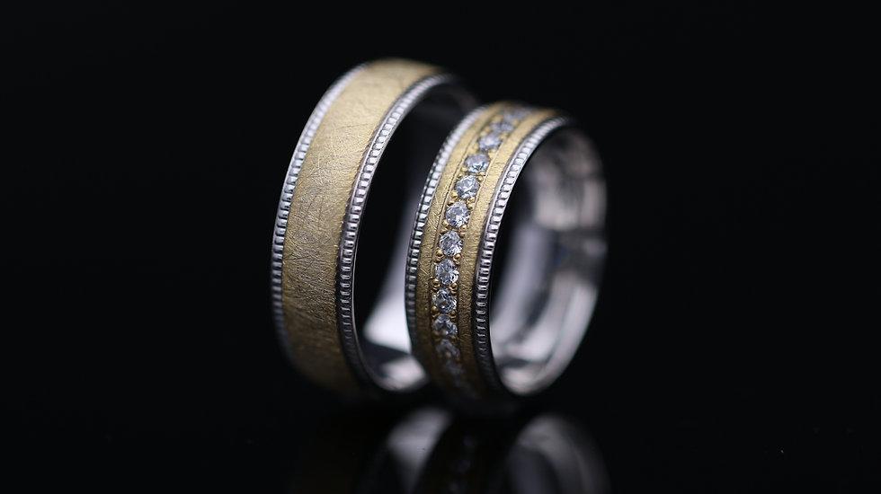 Svadobné obrúčky / Wedding rings A1059 / VIDEO / Cena s DPH