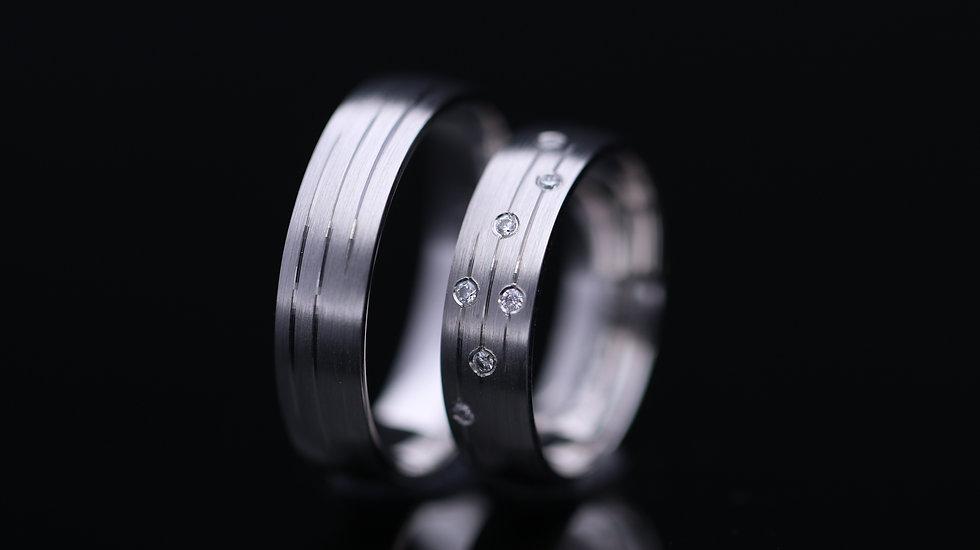 Svadobné obrúčky / Wedding rings R354 / VIDEO / Cena s DPH