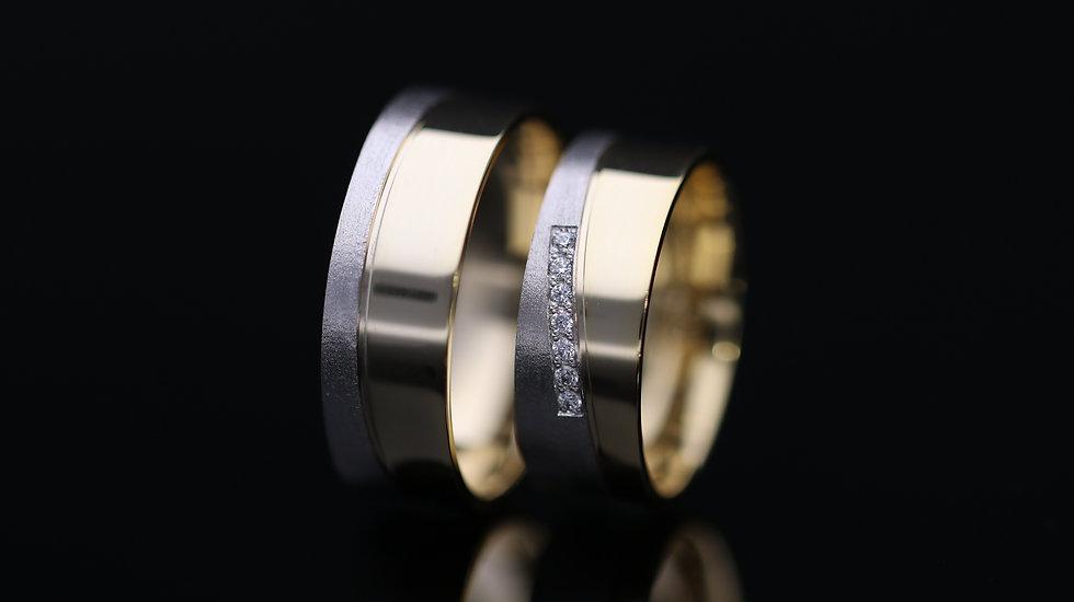 Svadobné obrúčky / Wedding rings R159 / VIDEO / Cena s DPH