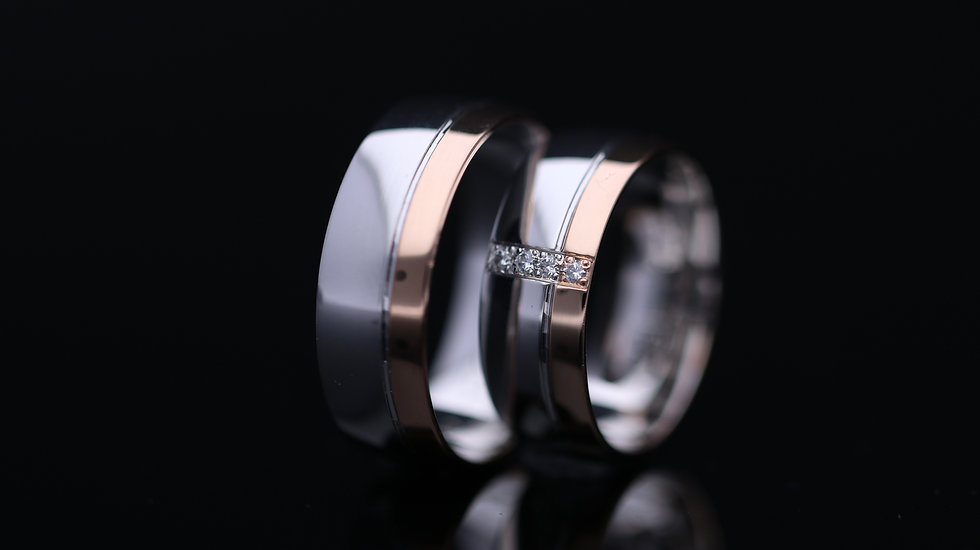Svadobné obrúčky / Wedding rings R180 / VIDEO / Cena s DPH