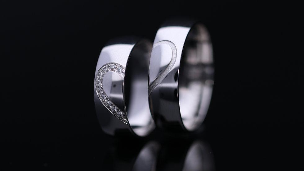Svadobné obrúčky / Wedding rings A852 / VIDEO / Cena s DPH