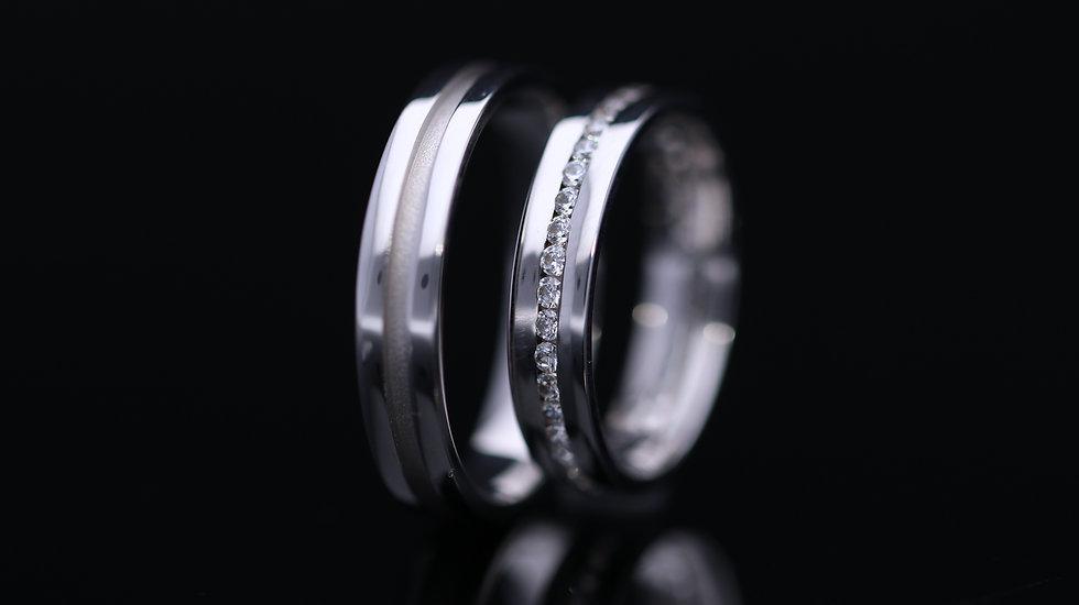 Svadobné obrúčky / Wedding rings R230 / VIDEO / Cena s DPH