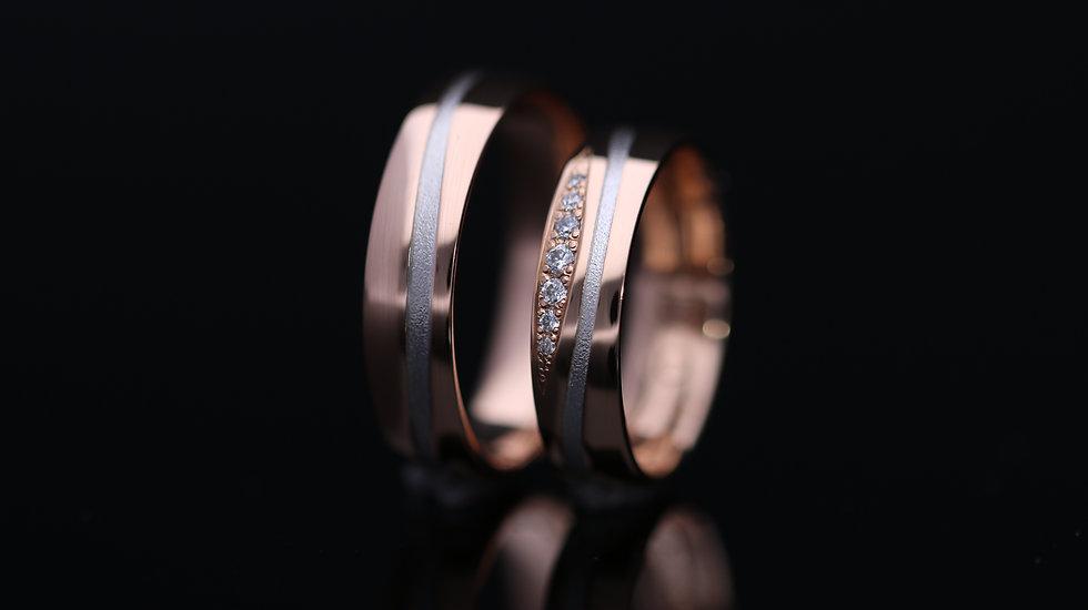Svadobné obrúčky / Wedding rings B9 / VIDEO / Cena s DPH