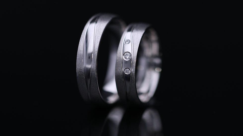Svadobné obrúčky / Wedding rings B13 / VIDEO / Cena s DPH