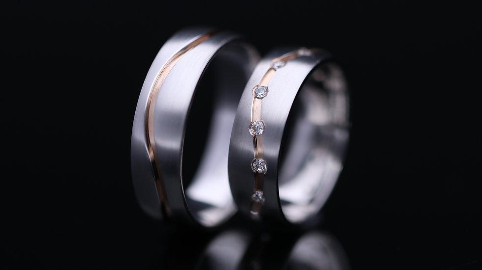 Svadobné obrúčky / Wedding rings R372 / VIDEO / Cena s DPH