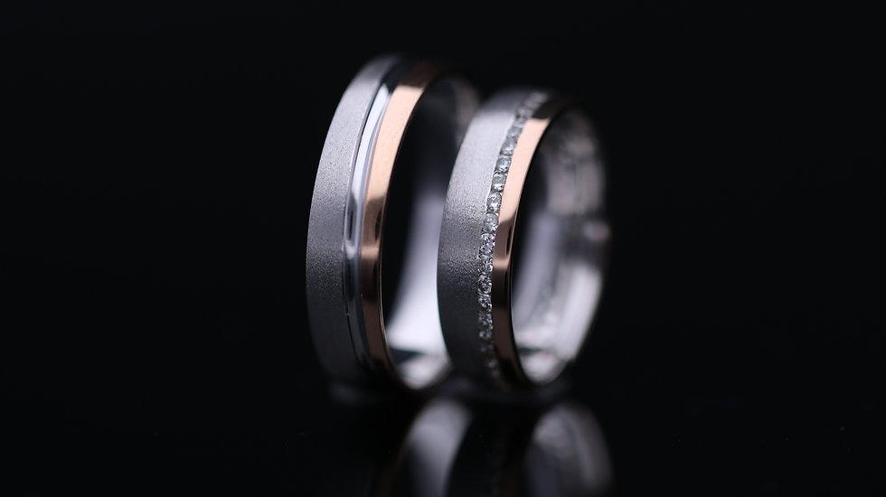Svadobné obrúčky / Wedding rings R358 / VIDEO / Cena s DPH