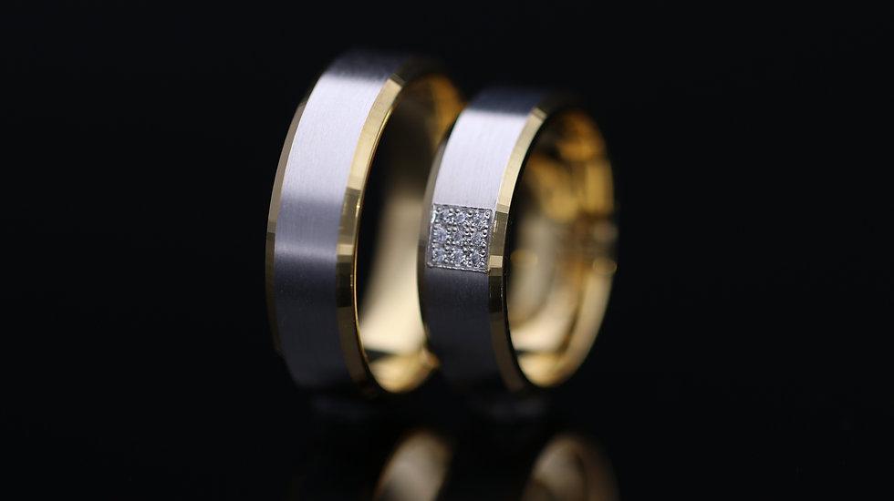 Svadobné obrúčky / Wedding rings R243 / VIDEO / Cena s DPH