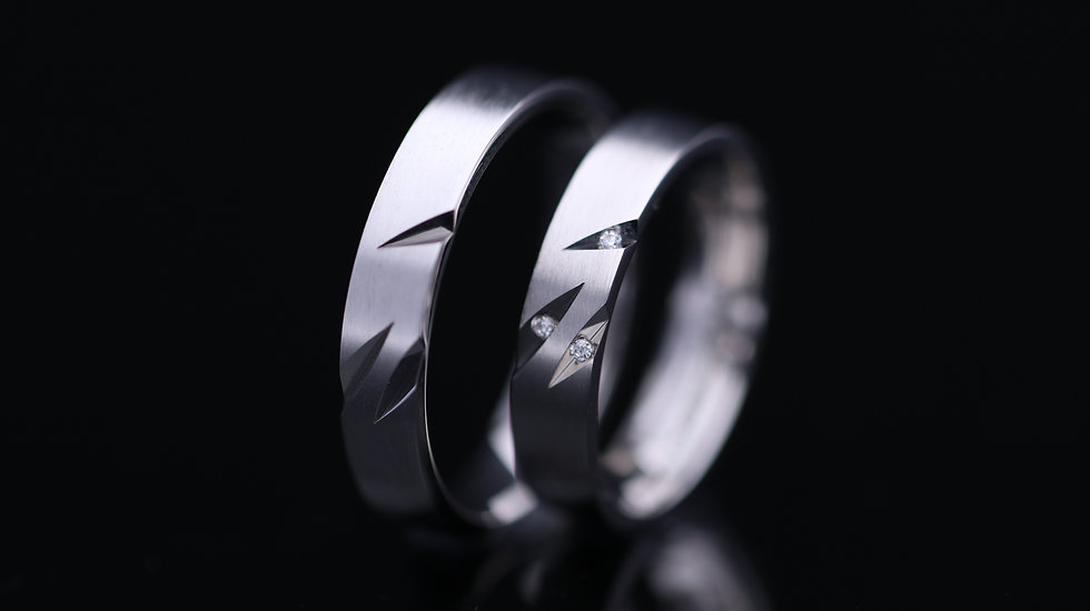 Svadobné obrúčky / Wedding rings R335 / VIDEO / Cena s DPH