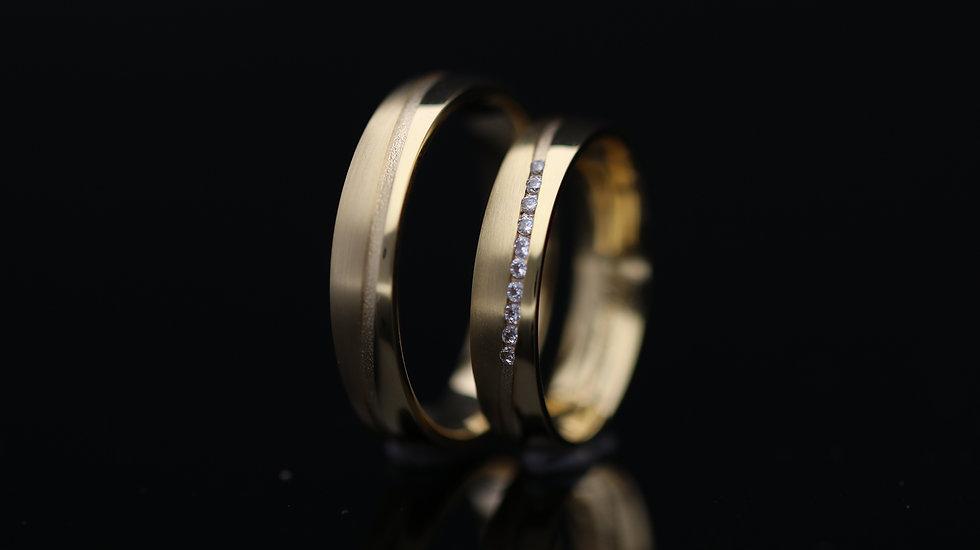 Svadobné obrúčky / Wedding rings L134 / VIDEO / Cena s DPH