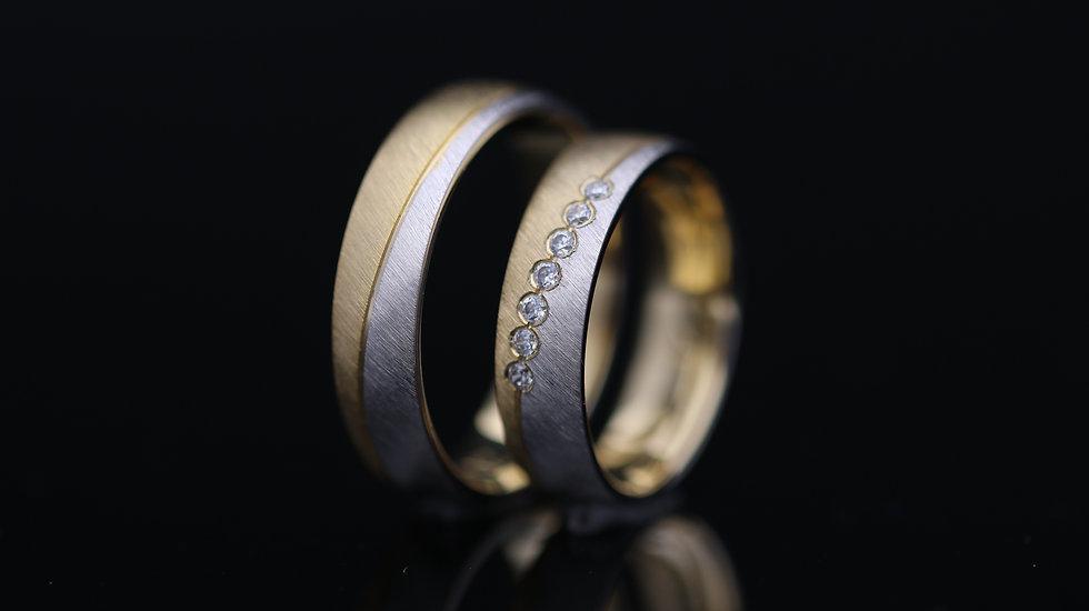 Svadobné obrúčky / Wedding rings L12 / VIDEO / Cena s DPH