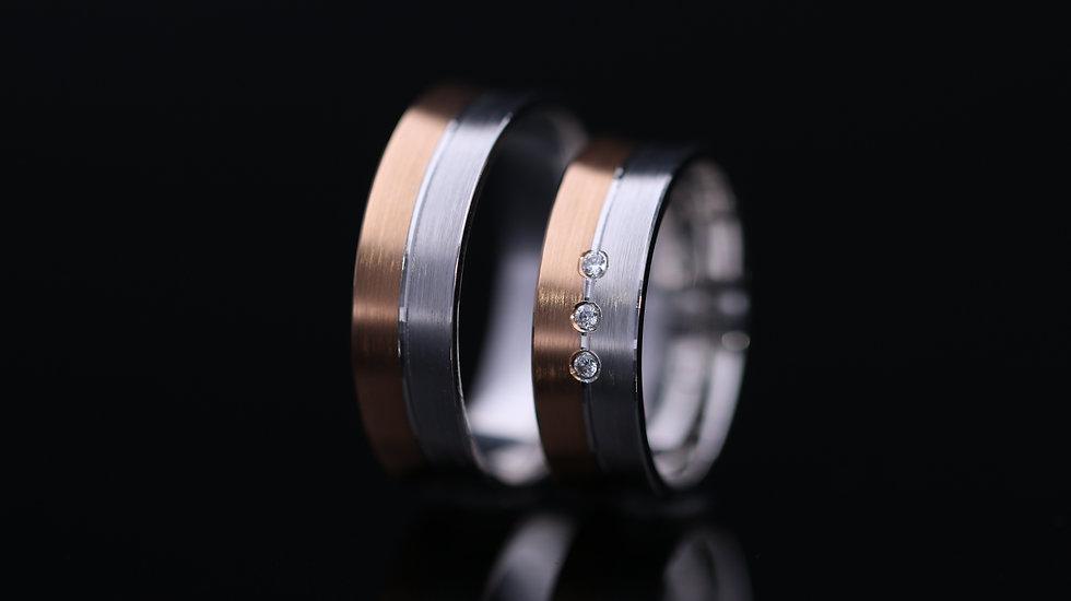 Svadobné obrúčky / Wedding rings A 541 / VIDEO / Cena s DPH
