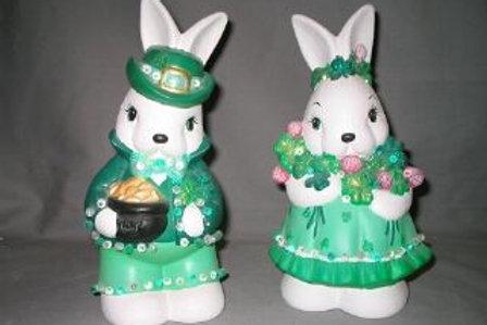 St. Pat's Bunny Couple