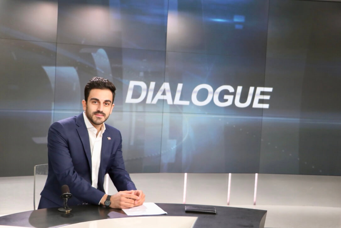Yahya on set for CCTV Dialogue