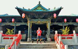 Yahya showing UofA pride in China