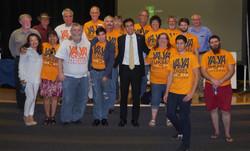 Team Yahya at the May 3rd debate