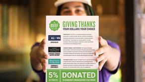 GIVING THANKS & GIVING BACK
