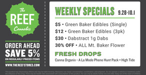 THE REEF ° CAPITOL HILL • WEEKLY SPECIALS