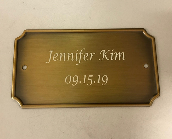 Name Plate For Urn