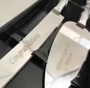 Cake Knife Set Engraving