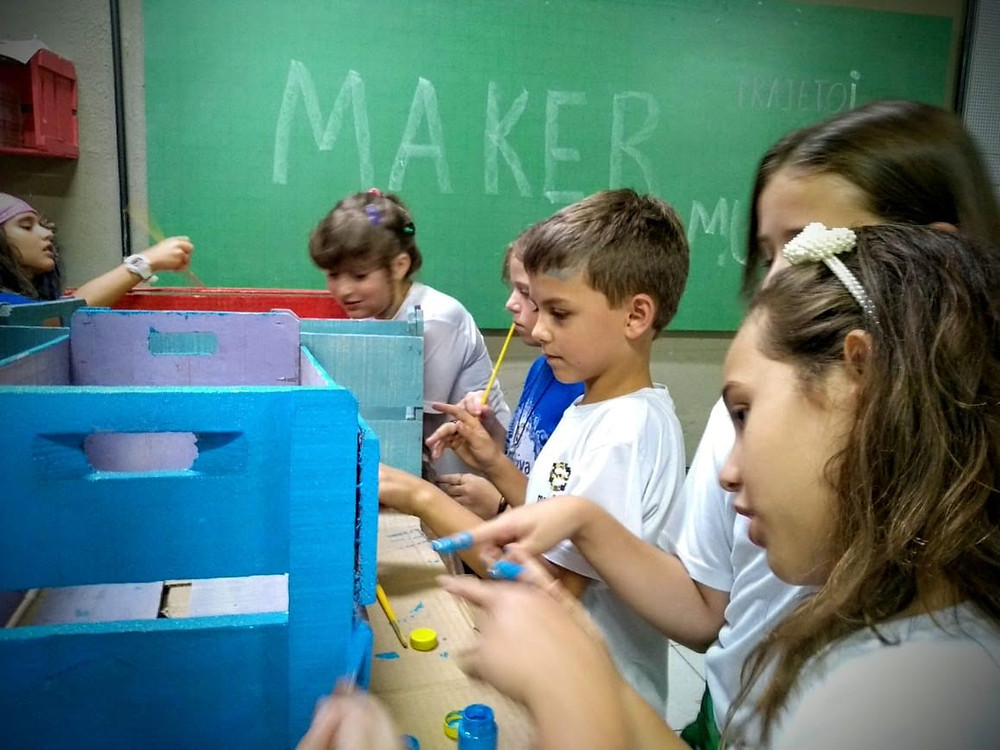 aula de cultura maker escola evolutiva