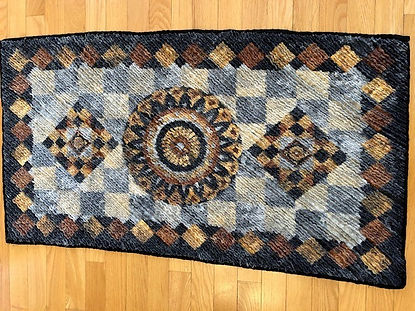 Stefy - I made these 2 chenille rugs whi