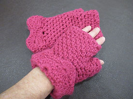 Joanne Haydyn - Fingerless mitts..... Pi