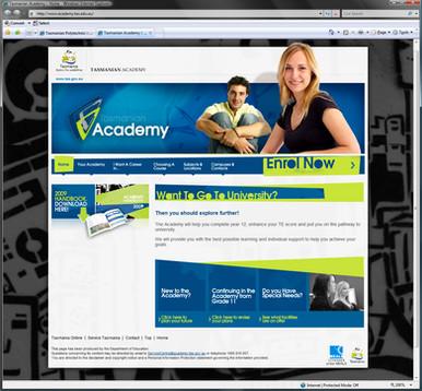Simple Website for the Tasmanian Academy