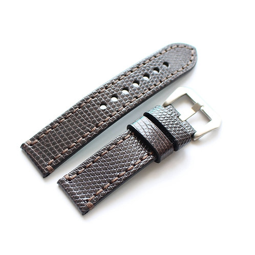 22MM 24MM lizard leather Strap