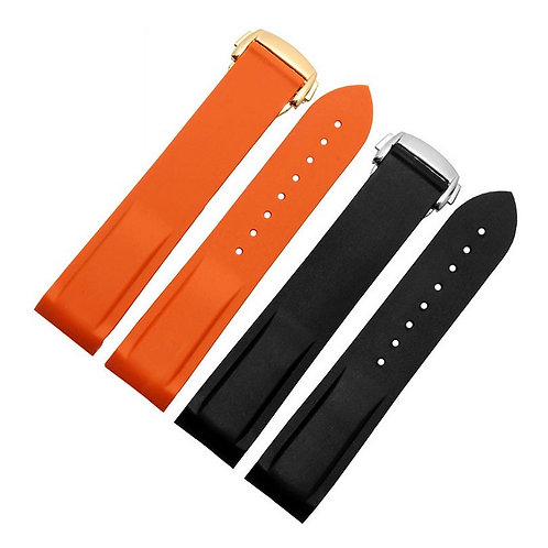 20mm 22mm Orange silicone diver strap for OMEGA watch