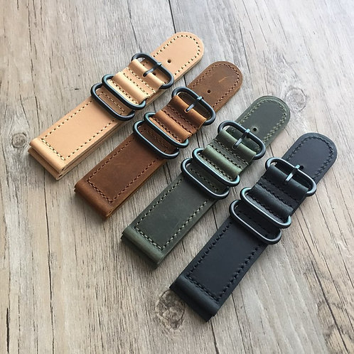 Nato strap 18MM 20MM 22MM 24MM PAM Leather strap