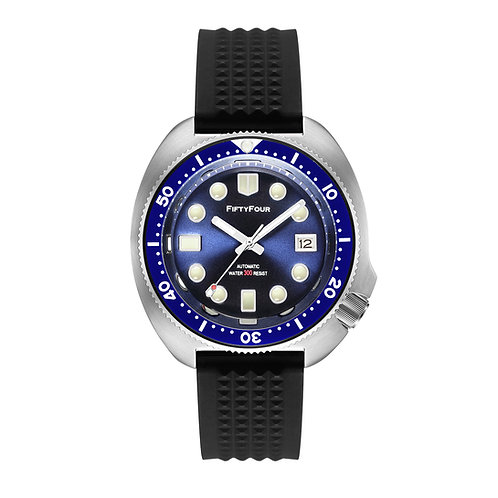 Blue turtle stainless steel watch NH35A movt