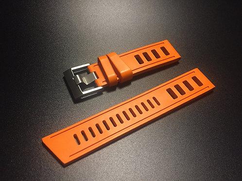 22mm Orange Rubber strap diverwatch strap for SKX007, SBBN015 seikowatch