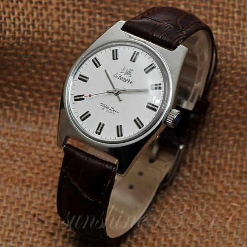 70s Vintage Shanghai 7120 watch handwind mechnical watch Genuine leather strap