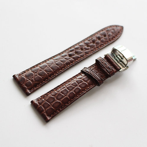 20mm Crocodile leather strap butterflybucle