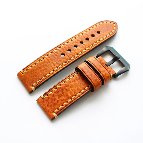Orange Genuine leather strap 20mm 22mm 24mm