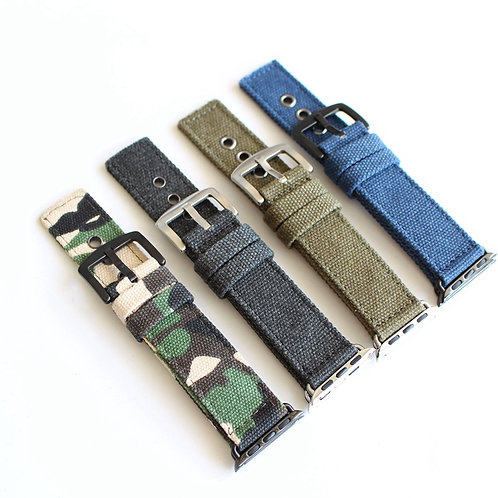 38mm 42mm apple strap canvas strap