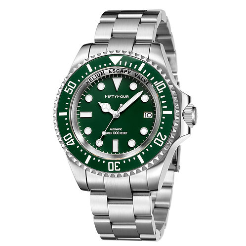 Mod Rolex 116610  Green Submariner Automatic Watch 1000m WR Stainless Steel 44mm