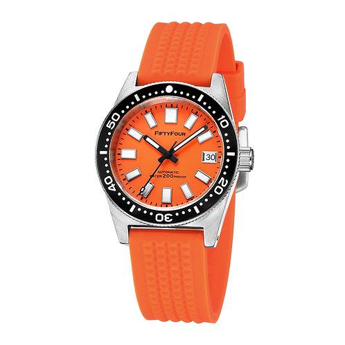 62178000 Orange Dial Orange waffle strap